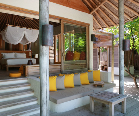 luxury villa at Six Senses Laamu