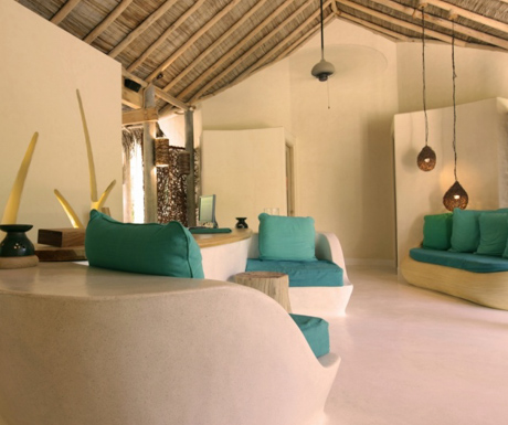 The welcoming spa at Six Senses Laamu.