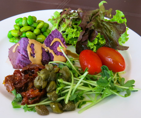 Healthy, vibrant and delicious salad to start the day!