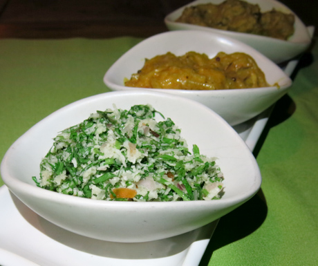 'Copyfai leaf salad' was a delicious way to sample some local cuisine.