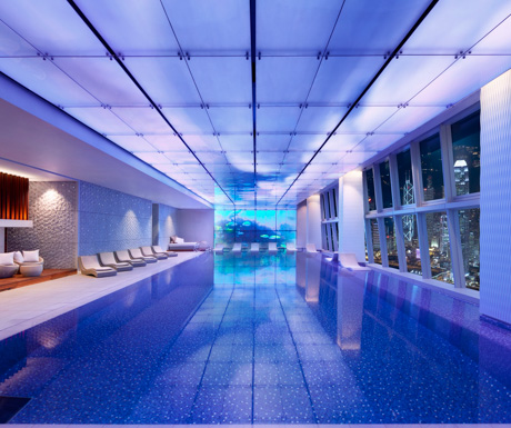 swimming pool at Ritz Carlton Hong Kong