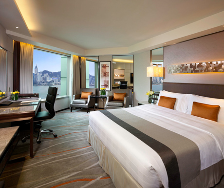 A comfortable room with a view, fully equipped with everything we needed.