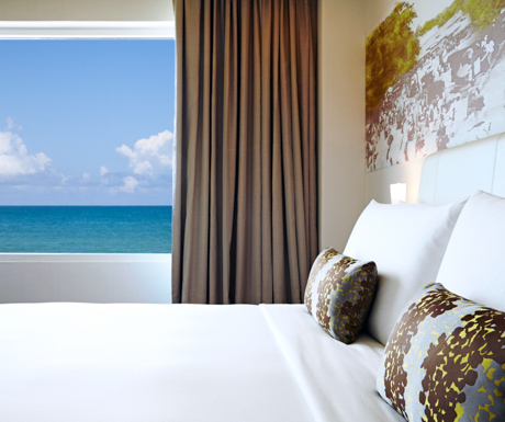 Many rooms boast far reaching views of the Indian Ocean
