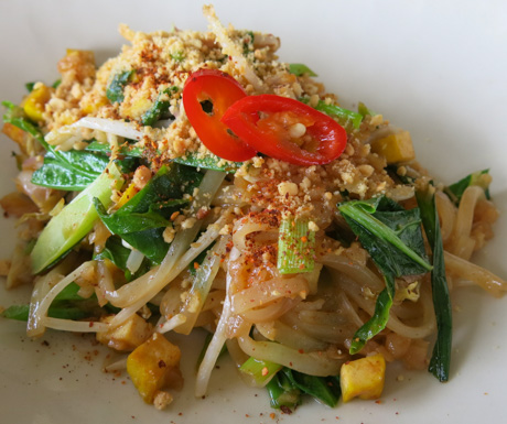 vegan Pad Thai at Paresa Resort Phuket