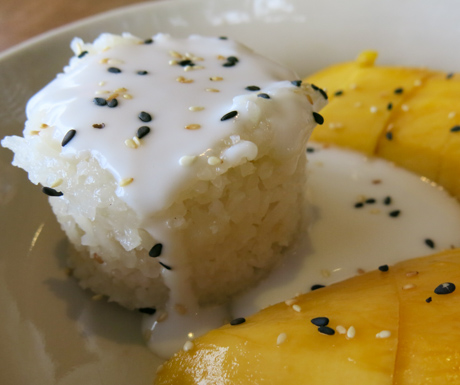 The most classic of Thai desserts, mango sticky rice.
