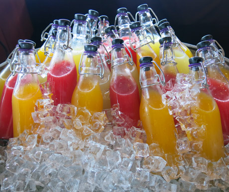 freshly squeezed juices at Paresa Resort Phuket