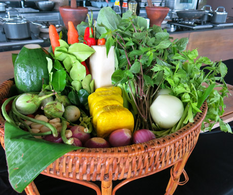 All the fresh ingredients we needed to make an amazing Thai banquet.