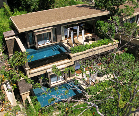 villas with private pools at Paresa Resort Phuket
