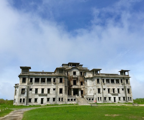The partially restored Bokor Palace Hotel and Casino