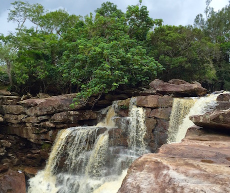 Natural beauty at the waterfalls in Bokor