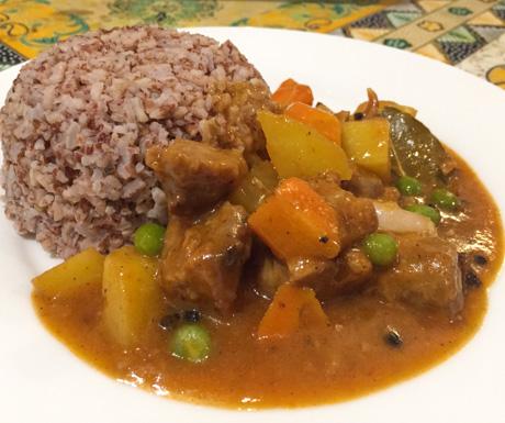 Vegan Guide to Cebu - Planet Vegis calderetta stew