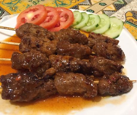 Vegan Guide to Cebu - Planet Vegis BBQ mock meat skewers