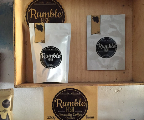 RumbleFish coffee in Kampot