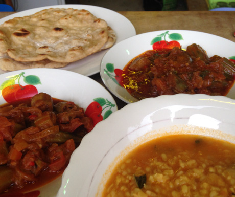 We were pleasantly surprised by the very tasty curries and flatbread at Kabul Eco