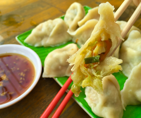 The dumplings were simple and delicious