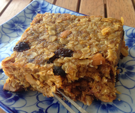 vegan flapjack at Epic Arts Cafe in Kampot