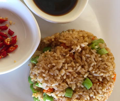 veg fried rice at Rikitikitavi in Kampot