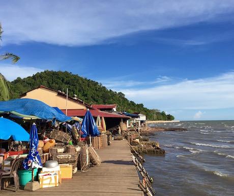 seafront at Kep