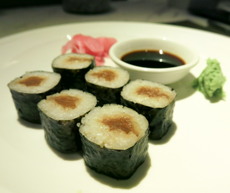 Vegetarian sushi at Manila Marriott Hotel