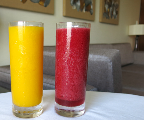 fruit smoothies at Manila Marriott Hotel