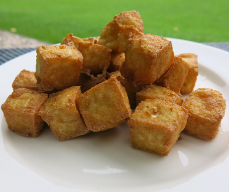 delicious, crispy fried tofu at Shangri-La Mactan Resort and Spa