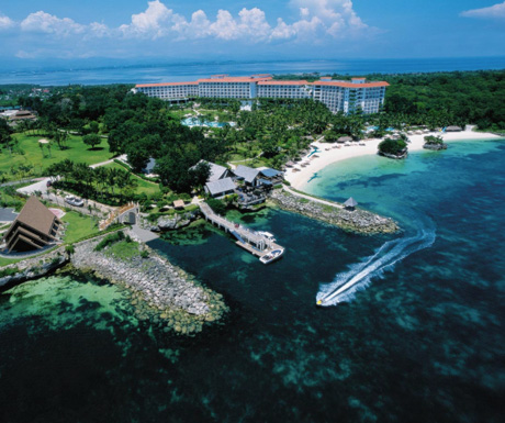 Shangri-La Mactan Resort and Spa from above