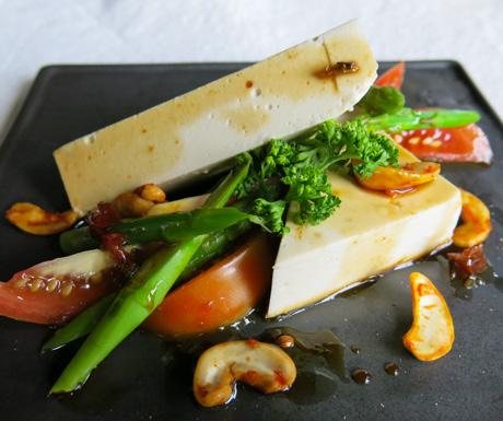 cashew Tofu with Sundried Tomato Vinaigrette