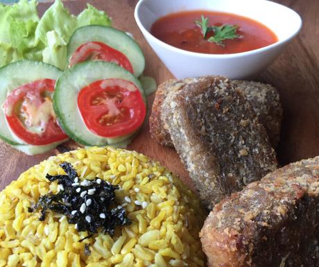 Vegan Guide to Cebu - Tofish at Lunhaw Vegan Cafe