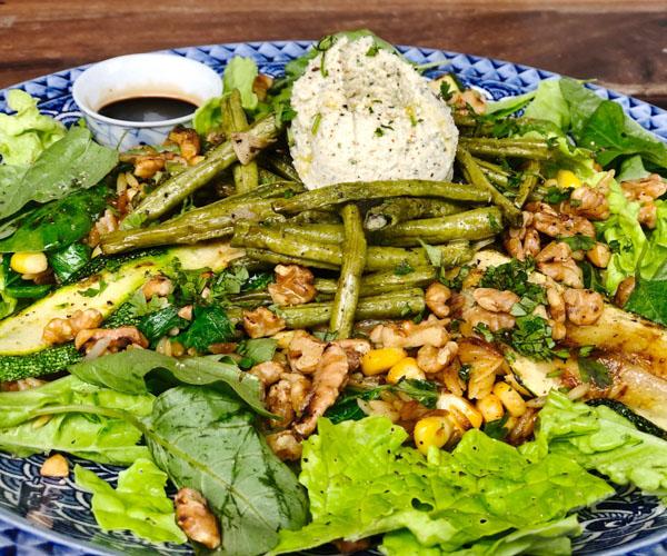 vegan orzo salad at Pilgrim House, Kampot