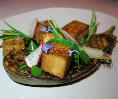 Smoked eggplant and tofu at Jaya House River Park