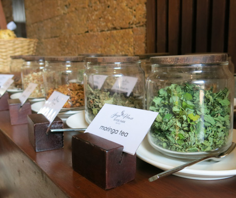 tea selection at Jaya House