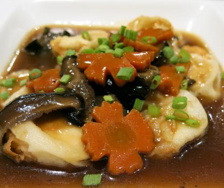 Vegan tofu and mushrooms at Mercure Koh Chang Hideaway
