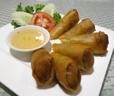 Vegetable spring rolls at Mercure Koh Chang Hideaway