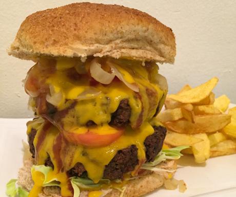 Siem Reap Vegan Villa - amazing vegan burger in Manila, Philippines
