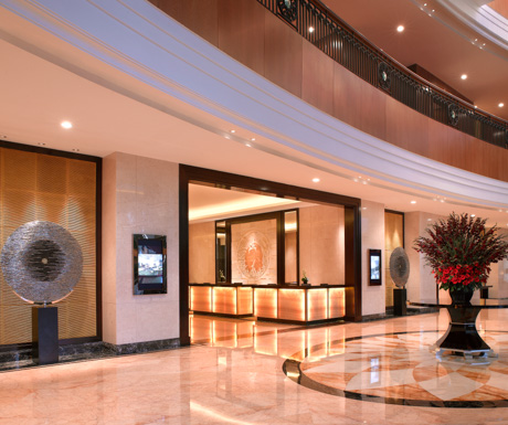 lobby of the JW Marriott Medan