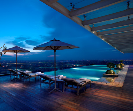 rooftop swimming pool at JW Marriott Medan