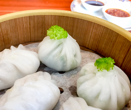vegan dim sum at InterContinental Phnom Penh