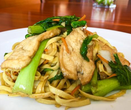 noodles, tofu and vegetables at InterContinental Phnom Penh