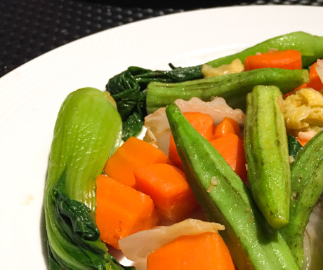 fried mixed vegetables at InterContinental Phnom Penh