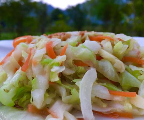 Dalat cabbage, mixed veg, vegan, Vietnam, vegan food
