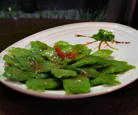 Bitter Melon, Plum Sauce, Cantonese food, vegan food, Vietnam