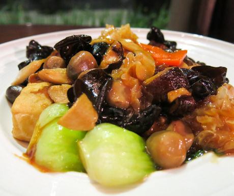 Braised Beancurd, Vegetables, Cantonese food, vegan food, Vietnam