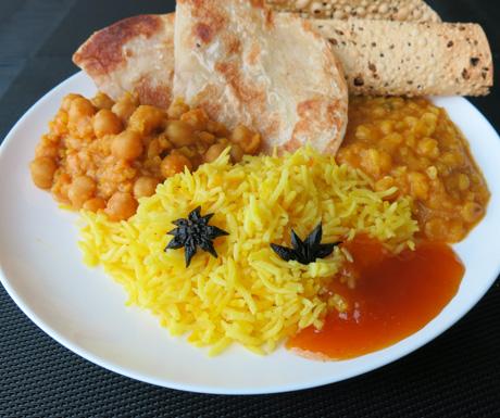 Indian food, vegan food, JW Marriott Hotel Hanoi, Vietnam