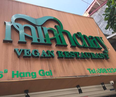 Minh Chay Vegan Restaurant, Hanoi, Vietnam, vegan Vietnam