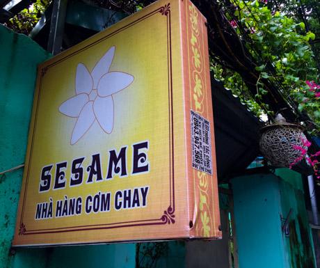 Sesame, Hanoi, West Lake, vegan restaurant, vegan food, Vietnam