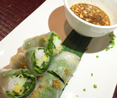 Tasty fresh spring rolls at Chanrey Tree