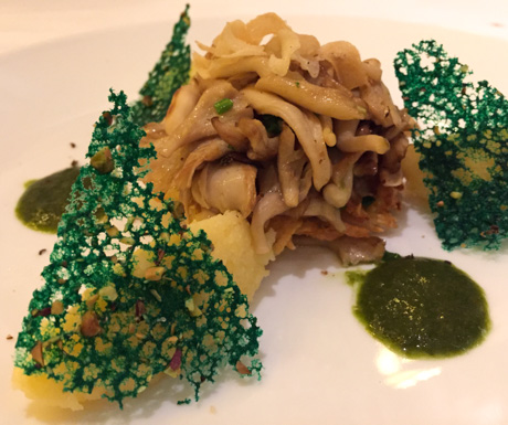 seasonal mushrooms fricassee, vegan, vegan food, Hanoi