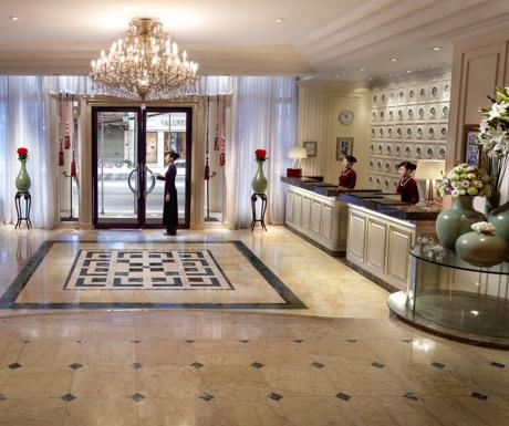 Lobby, Opera Wing, Sofitel Legend Metrople Hanoi. Hanoi, Vietnam, luxury hotel