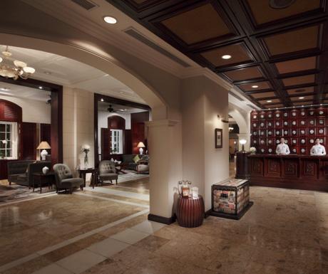 Lobby, Metropole Wing, Sofitel Legend Metrople Hanoi. Hanoi, Vietnam, luxury hotel