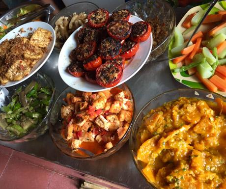 vegan buffet, Bo De Quan, Hanoi, West Lake, vegan restaurant, vegan food, Vietnam